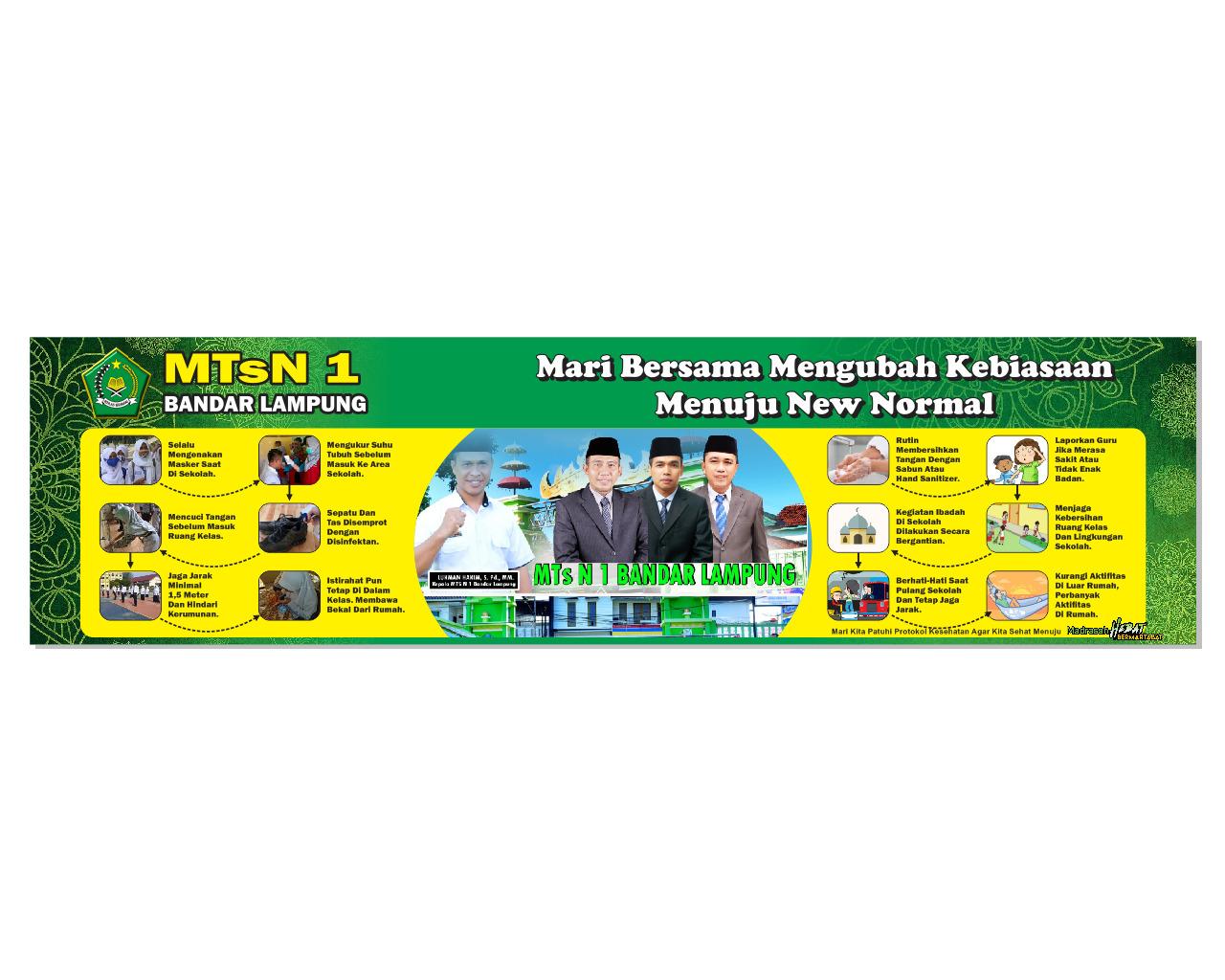 Plt Ka.Kanwil Prov. Lampung Tinjau Kesiapan Pembelajaran New Normal MTsN 1 Bandar Lampung